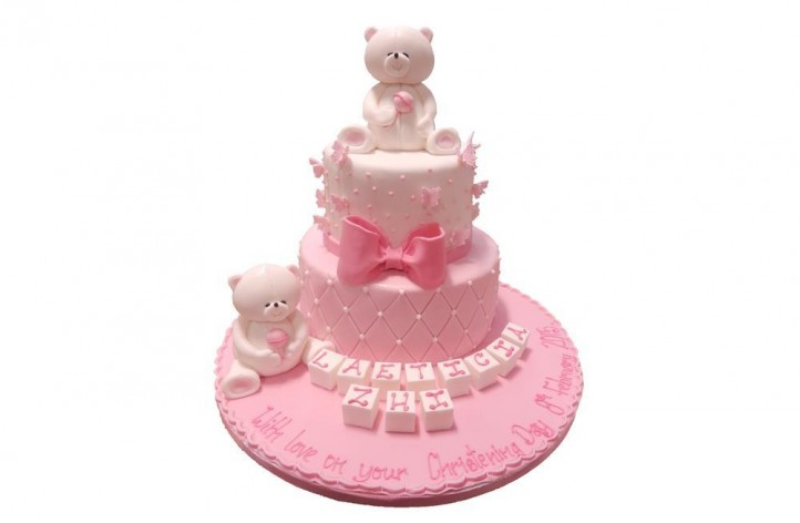 Tiered Bears & Butterflies Cake