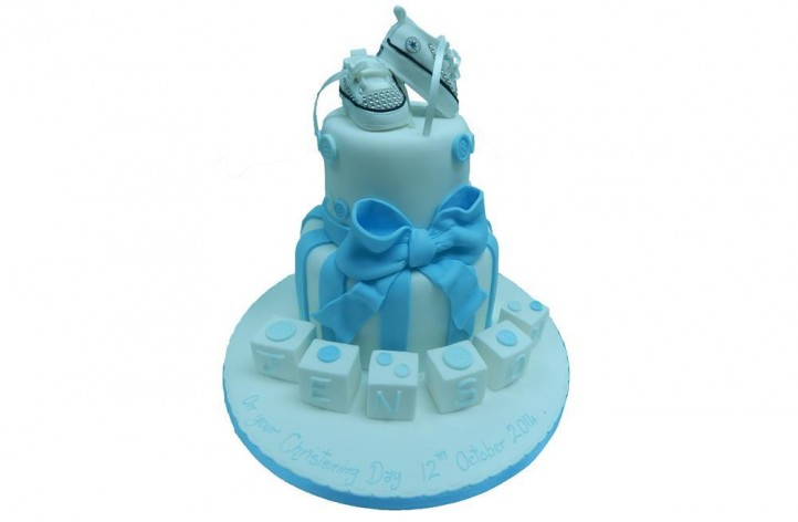 Tiered Converse Christening Cake