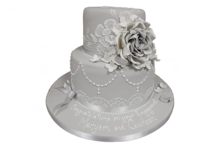 Tiered Delicate Floral Cake
