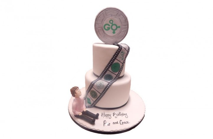 Tiered Film Reel Cake