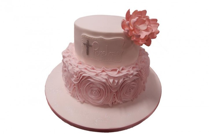 Tiered Frill & Flower Cake