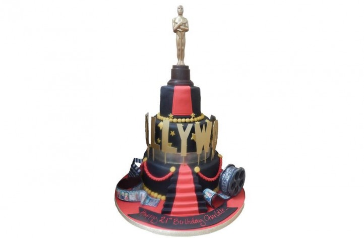 Tiered Hollywood Cake