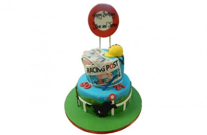 Tiered Horse Racing Cake