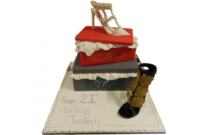 Tiered Shoe Box & Shoes Cake