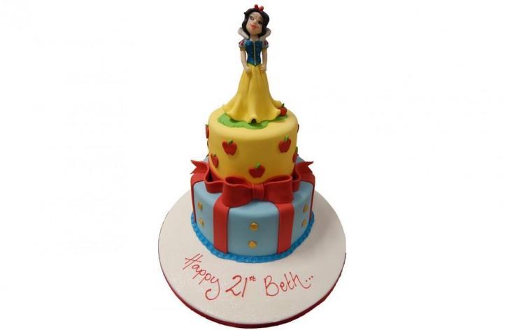 Tiered Snow White Cake