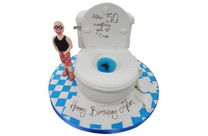 Toilet & Figure Cake