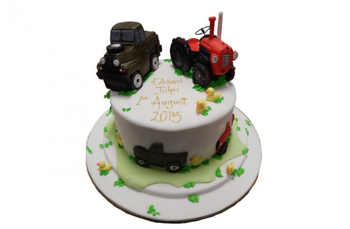 Tractor & Truck Cake