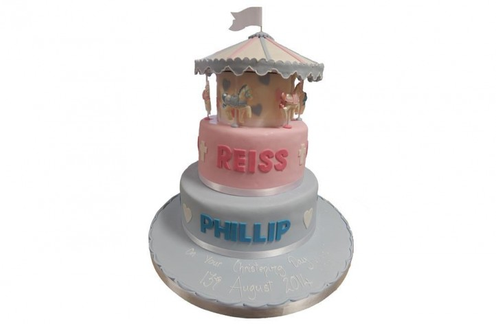 Two Tiered Carousel Cake