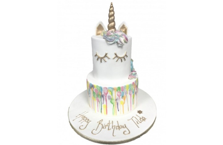 Unicorn Drip Tiered Cake