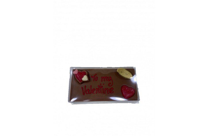 To My Valentine Small Chocolate Bar
