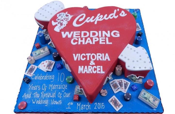Vegas Anniversary Cake
