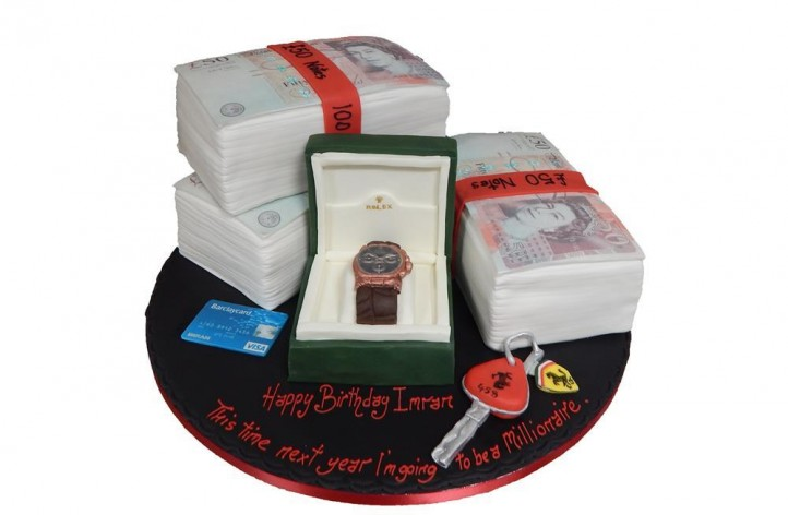 Wad of Money and Watch Cake