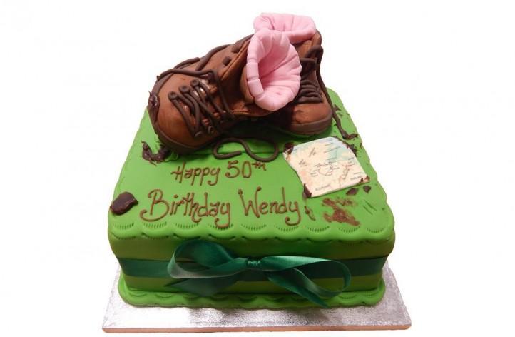 Walking Boots & Map Cake