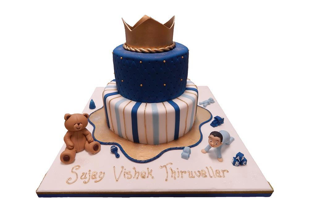 Tiered Cake With Crown