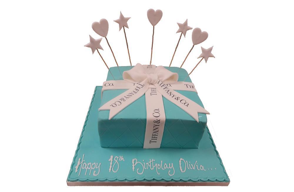 Wondrous Tiffany Present Cake Funny Birthday Cards Online Benoljebrpdamsfinfo