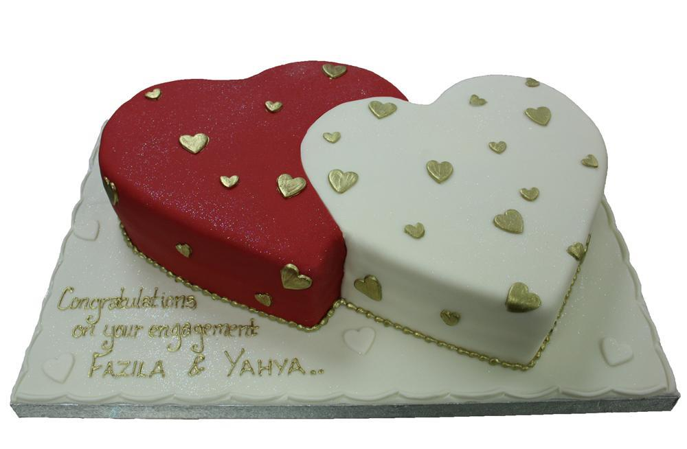 Two Heart Cake Images : Two Hearts Anniversary / Engagement